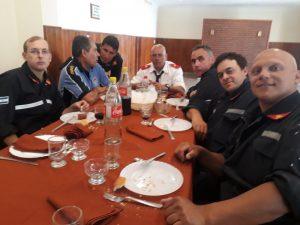 Bomberos: Carlos Monfort pasó a la Reserva y fue reconocido en el almuerzo del Aniversario