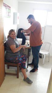 Controles de presión y diabetes en la Colonia de Adultos Mayores