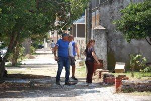Sánchez recorrió un sector a parquizar en Dunamar y se reunió con Parravicini