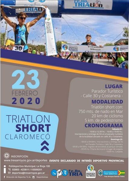 Triatlón Short 2020 en Claromecó