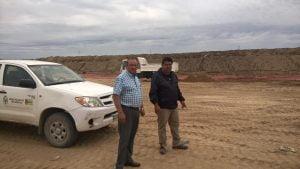 Sánchez visitó la futura cava del predio de la Planta de Residuos