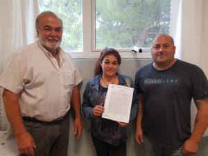 """""""Manos Montehermoseñas"""" firmó un comodato con el Municipio por el predio donde funciona su feria"""