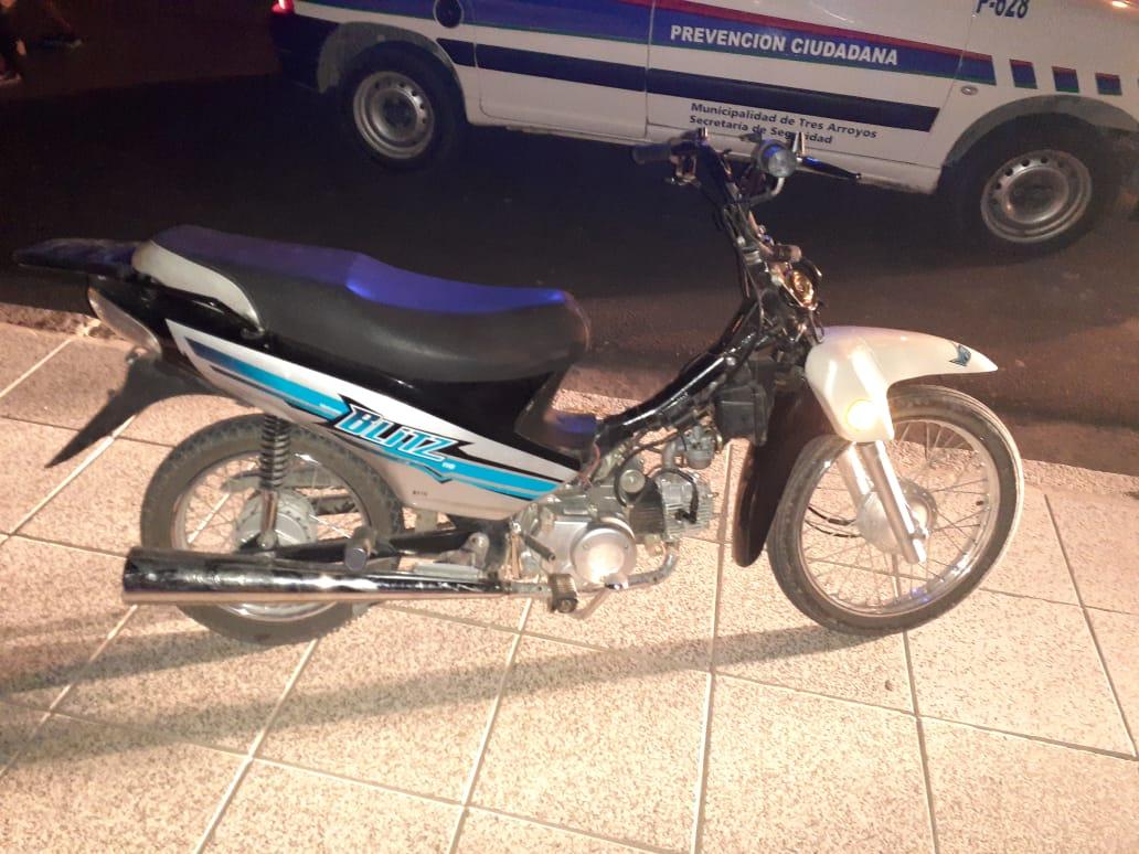 Apareció moto robada. La halló la Patrulla Urbana