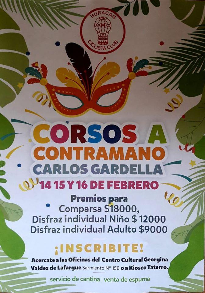 Este fin de semana comienzan los Corsos A Contramano Carlos Gardella