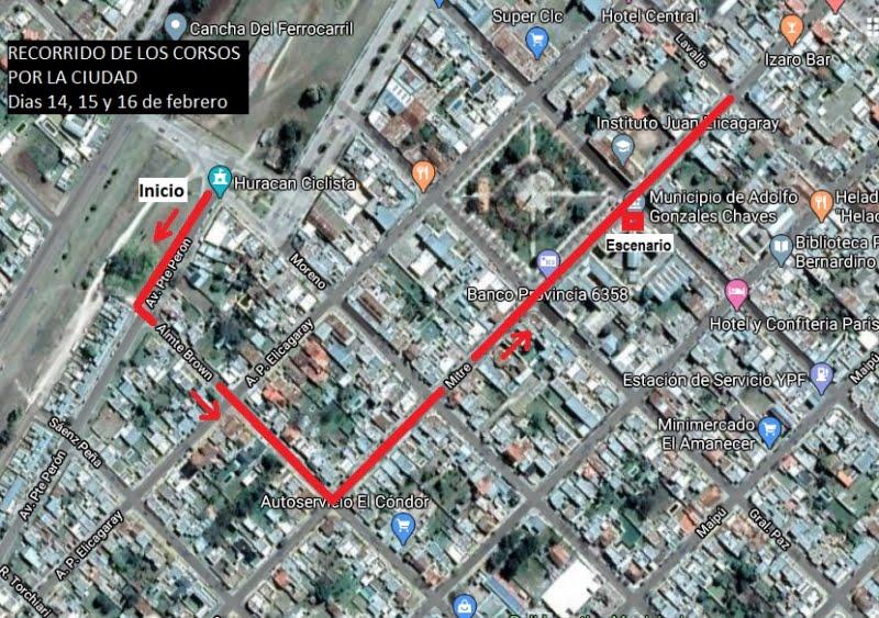 Corsos en Chaves: cortes de calles para el fin de semana