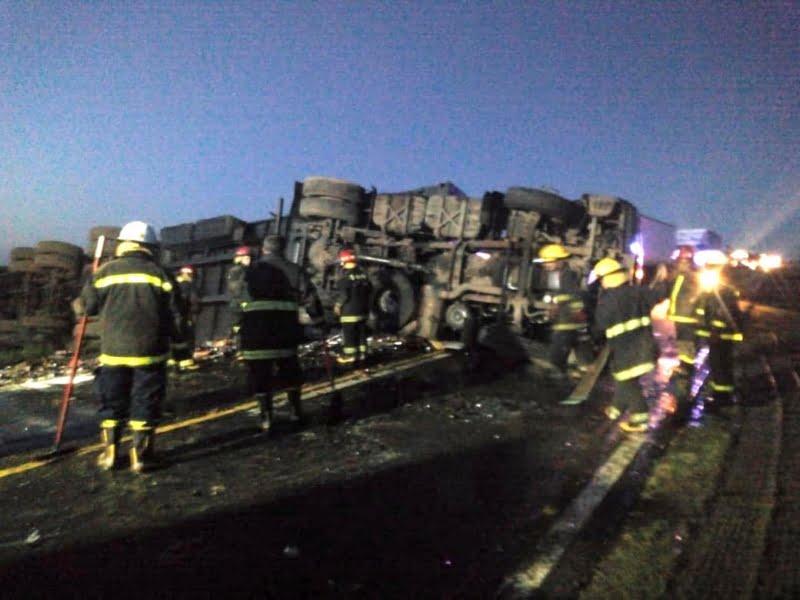 Accidente en Ruta 3 limita el tránsito pesado. Desvían por la 85