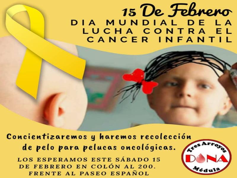 Tres Arroyos Dona Médula, presente en el Día de lucha contra el Cáncer Infantil