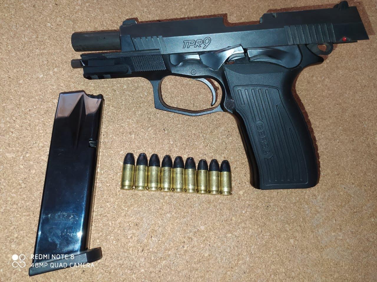 Patrulla Rural de San Cayetano demoró a tres personas y secuestró pistola 9 milímetros
