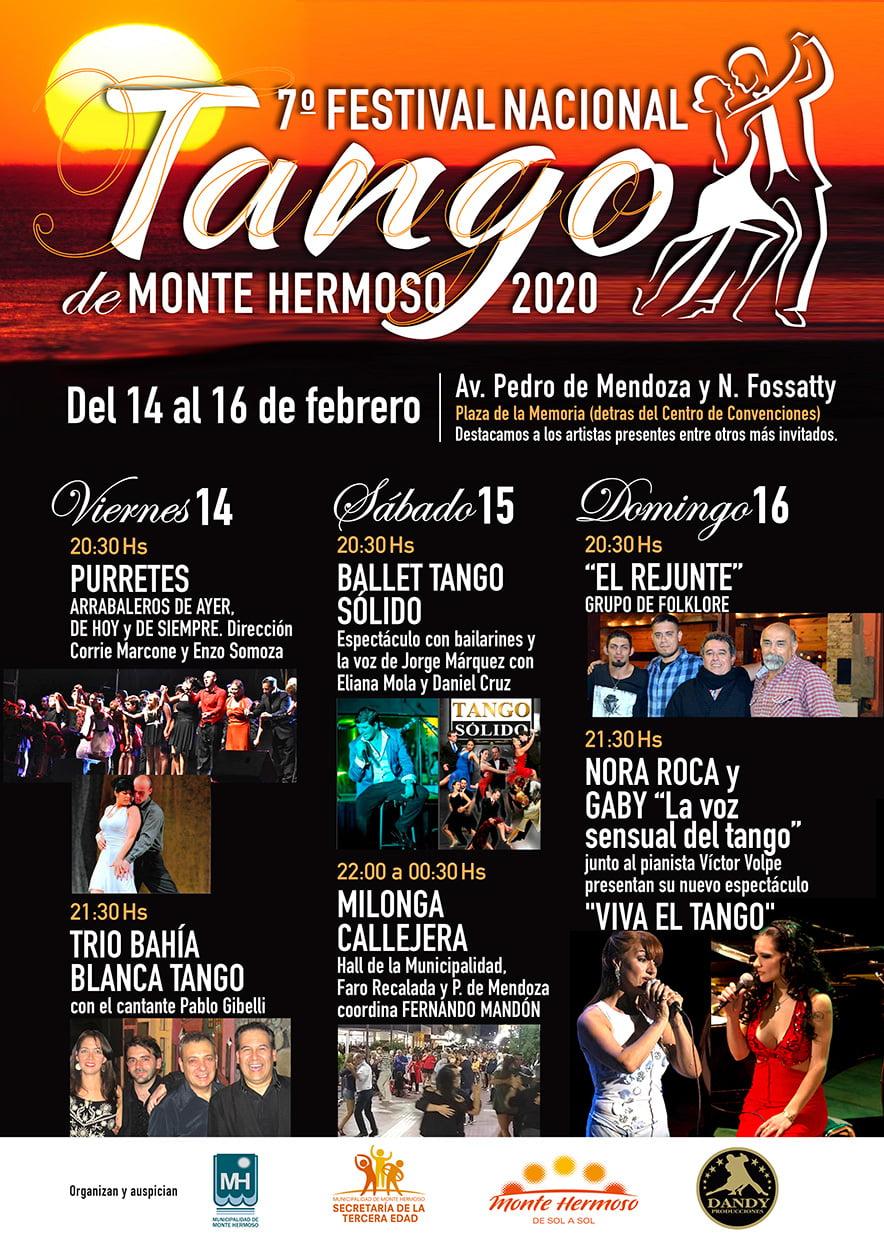 Monte Hermoso: Comienza  el 7º Festival de Tango en la Plaza de la Memoria