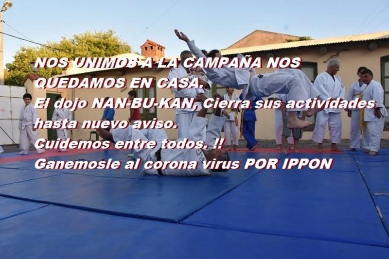 """""""Ganémosle al coronavirus por Ippon"""", el mensaje de Nan-bu-kan"""