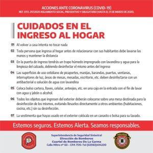 Bomberos De La Garma colabora en los operativos de prevención por coronavirus  (videos)