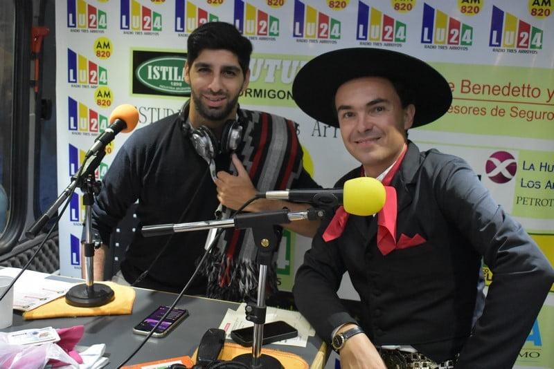 """Fiesta del Trigo: los artistas que se presentaron en el cierre pasaron por """"La Andariega"""""""
