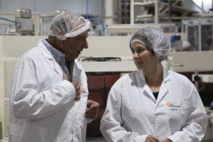 Sánchez y el ministro Rodríguez visitaron empresas del Parque Industrial