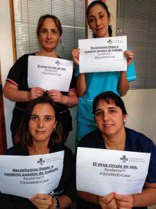 #QuedateEnCasa el mensaje de los trabajadores de salud de la Clínica Hispano