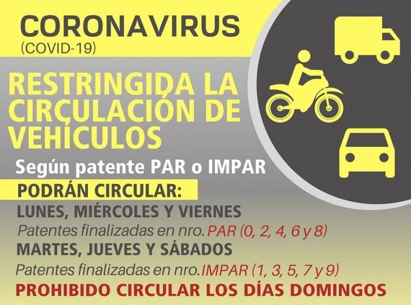 Restringen el tránsito de vehículos en La Madrid