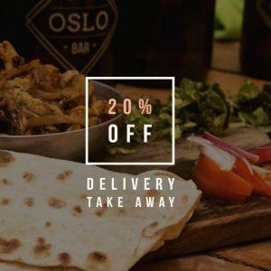 #YoMeQuedoEnCasa: Oslo cierra al público y ofrece delivery con 20% de descuento