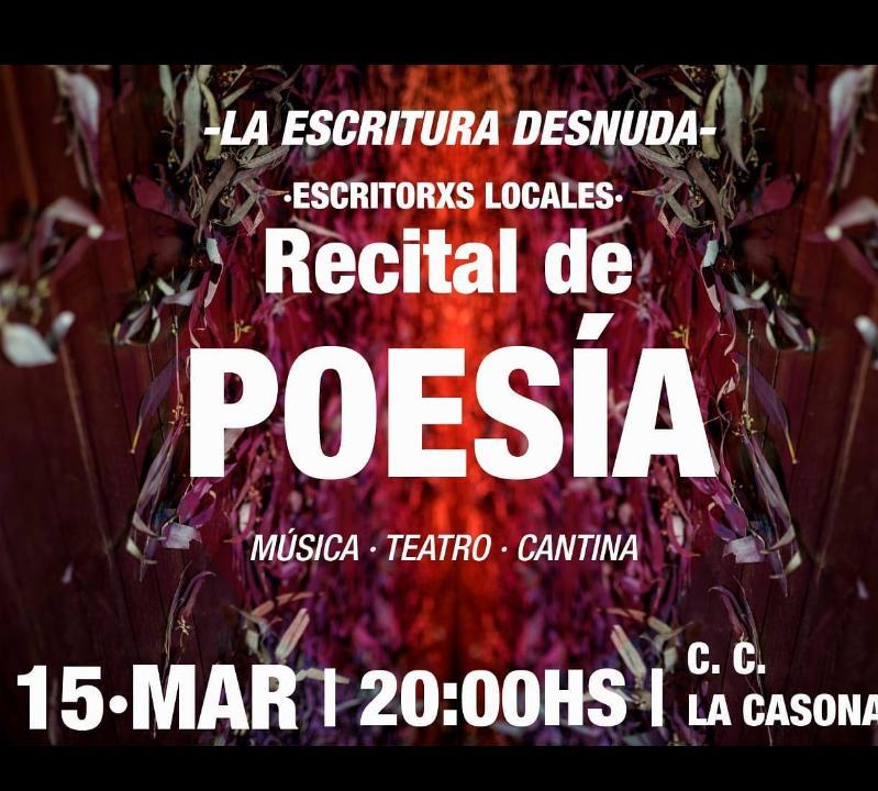 Recital de Poesía en el Centro Cultural La Casona