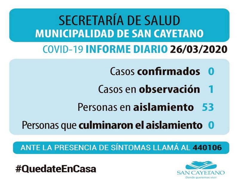 Un caso en observación por presunto coronavirus en San Cayetano