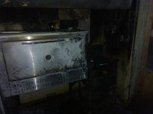 Incendio en la cocina de una sandwichería