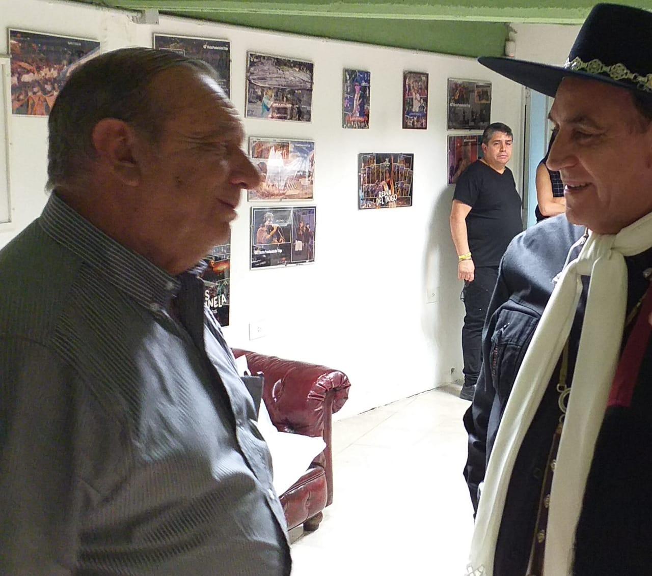 """El intendente y el """"Chaqueño"""", juntos en la previa del show"""