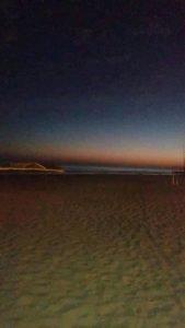 Salieron del mar tres luces misteriosas en Claromecó