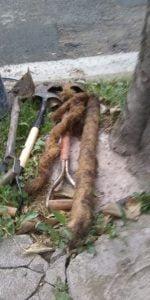 Reparan importante obstrucción en cañería de agua en Humberto Primo al 700