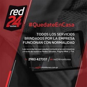 #QuedateEnCasa: todos los servicios de Red 24 funcionan con normalidad