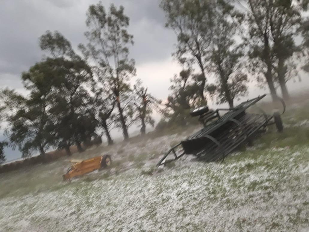 Cola de tornado pasó por Juan E. Barra y causó daños en zona rural