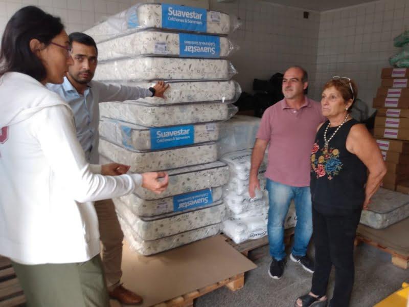 Empresario local donó colchones al Centro municipal de Salud