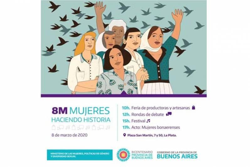 #8M Mujeres bonaerenses haciendo historia
