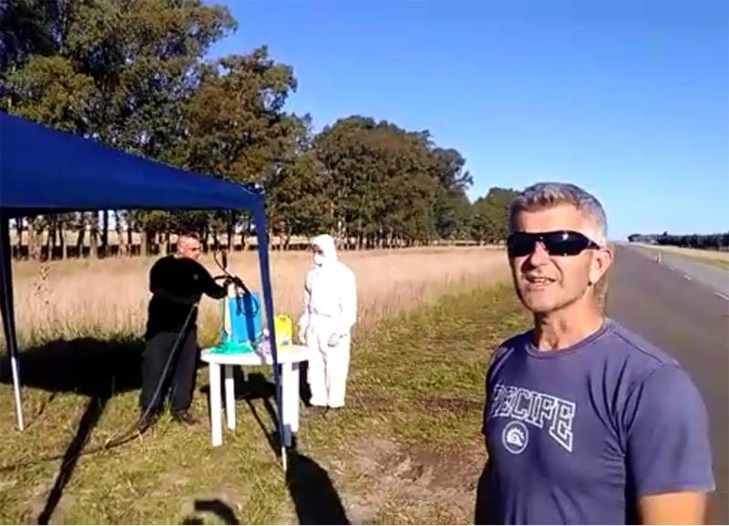 Coronavirus: así se trabaja en el acceso a De La Garma (video)