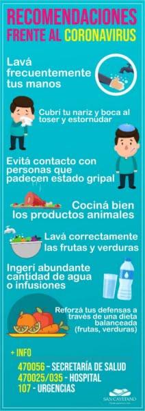Disponen plan preventivo contra el Coronavirus en San Cayetano