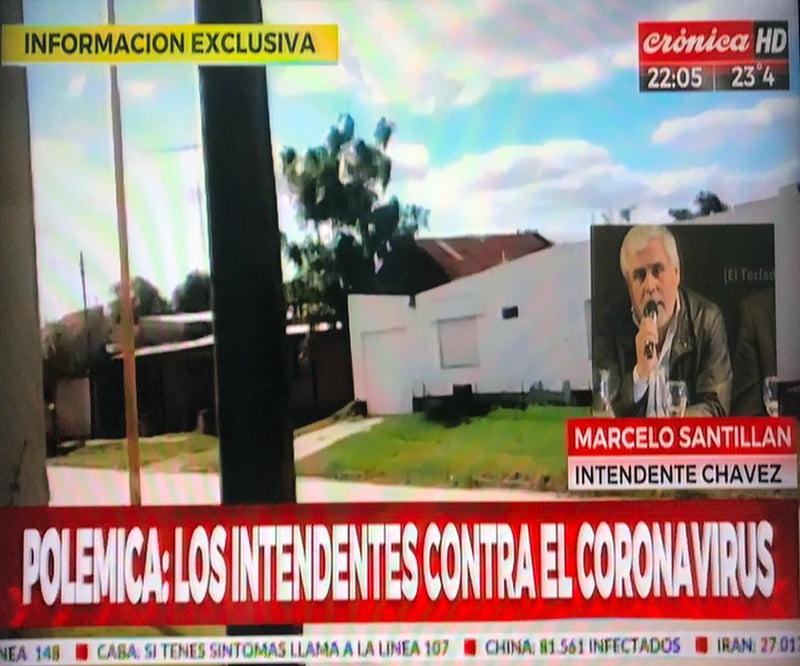 El toque de queda en Chaves centro de la polémica en Crónica TV (videos)