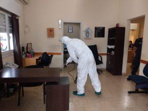 Pandemia: Personal municipal continúa con tareas de desinfección