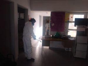 Comenzaron las tareas de desinfección