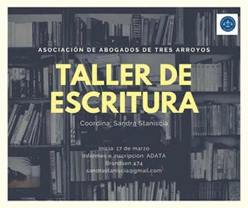 Taller de escritura creativa en la Asociación de Abogados de Tres Arroyos