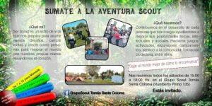Inicio de actividades del Grupo Scout Tomás Santa Coloma