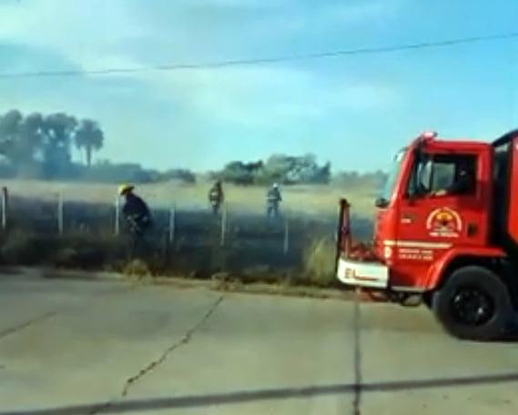 Incendio de pastizales en Entre Ríos 150 (Video)