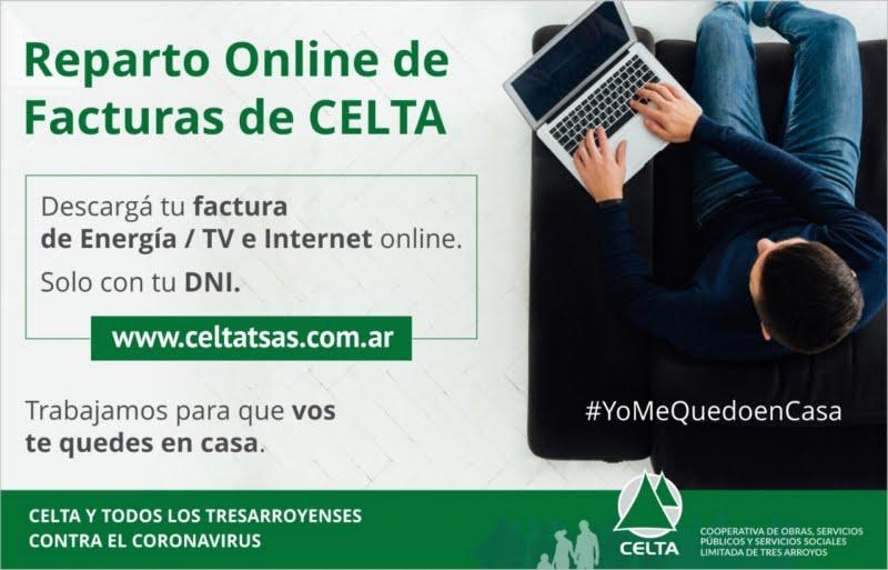 Reparto online de las facturas de CELTA