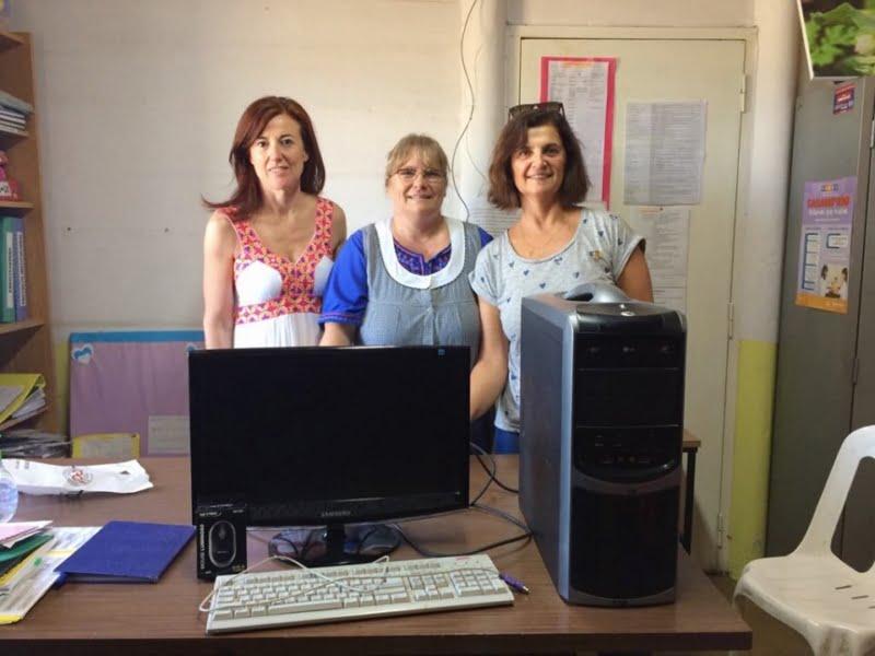 Rotary Tres Arroyos donó una computadora a la Escuela 56
