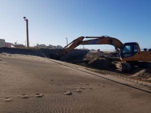 Claromecó: movimiento de arena en la costanera y plantación de 500 pinos en el Vivero