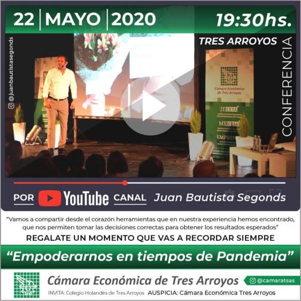 La Cámara Económica invita a participar de charla virtual con Juan Bautista Segonds
