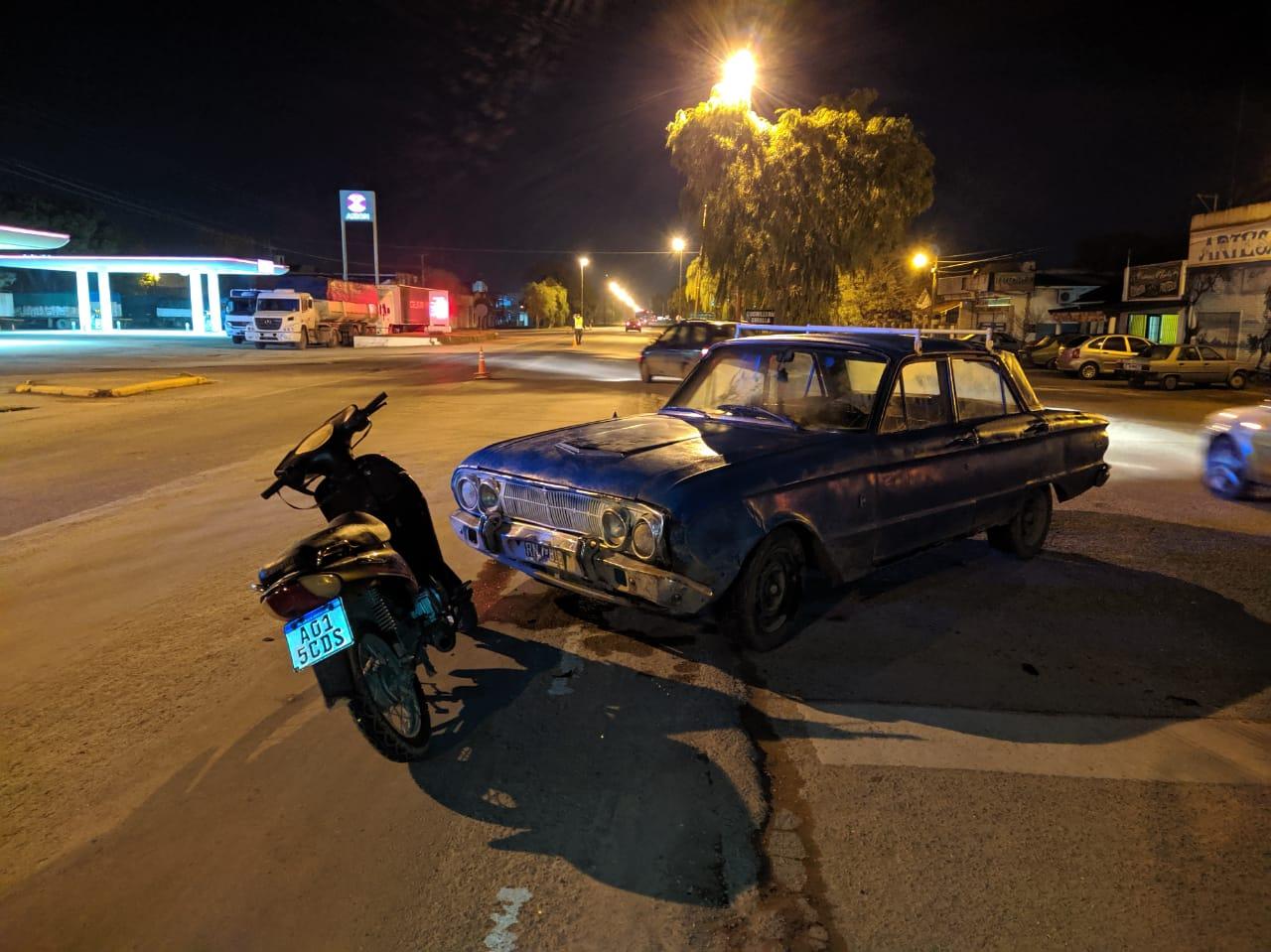 Otro accidente de moto con un herido: esta vez en Ruta 3 y San Martín