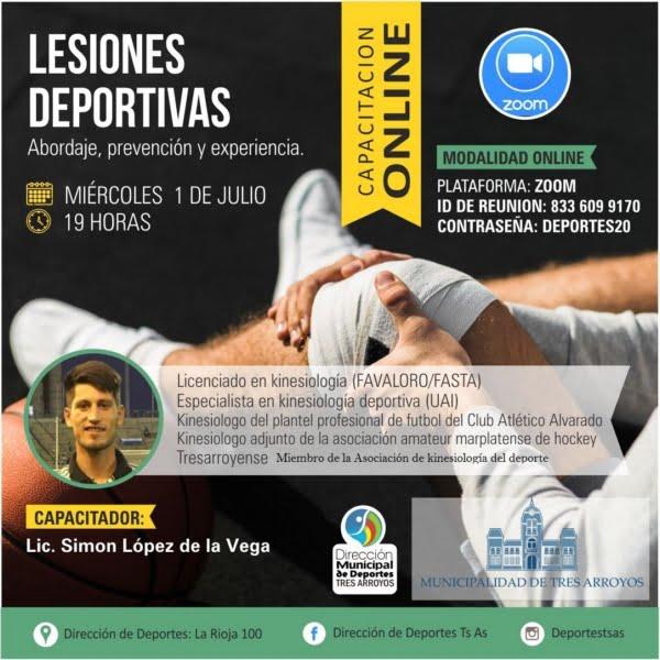 Simón López de la Vega anticipó detalles de la capacitación sobre lesiones deportivas