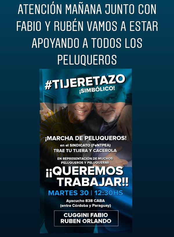 """Marcha de peluqueros en Capital Federal  y """"Tijeretazo simbólico"""""""