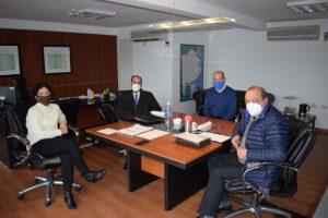 Sánchez se reunió con la Escribana General de Gobierno