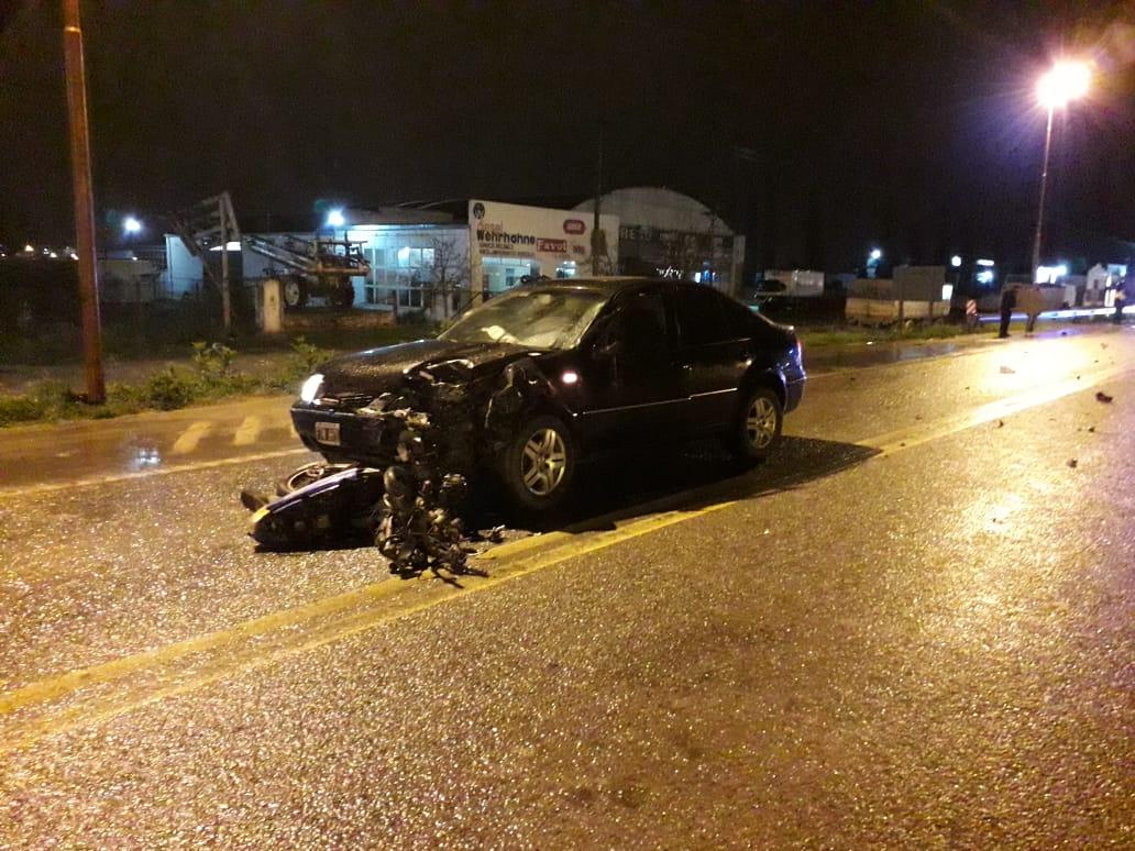 Accidente fatal en Ruta 3 y Laprida: muere joven motociclista