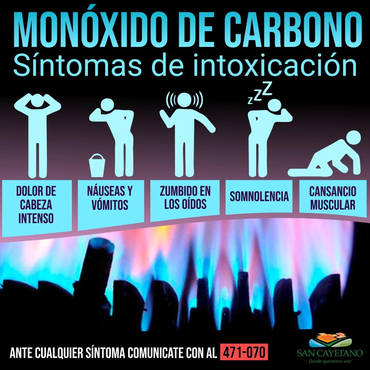 Recomendaciones para evitar intoxicación con monóxido de carbono