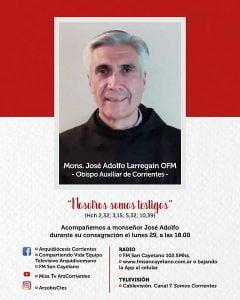 Consagran al chavense Larregain como nuevo obispo auxiliar de Corrientes