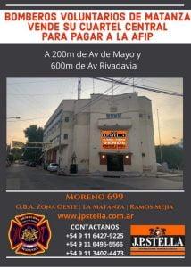 Para pagar deudas, venden el histórico Cuartel Central de Bomberos de La Matanza